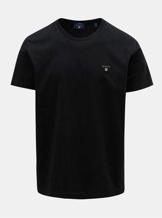 Černé pánské tričko s krátkým rukávem a s výšivkou GANT