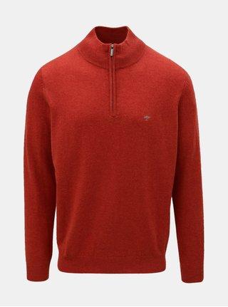 Oranžový sveter z merino vlny s prímesou kašmíru Fynch-Hatton