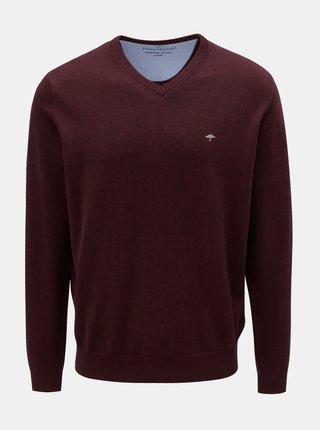Vínový sveter s véčkovým výstrihom Fynch-Hatton
