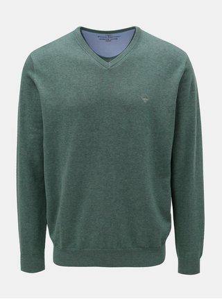 Zelený svetr s véčkovým výstřihem Fynch-Hatton