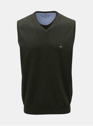 Zelená svetrová vesta s véčkovým výstrihom Fynch-Hatton