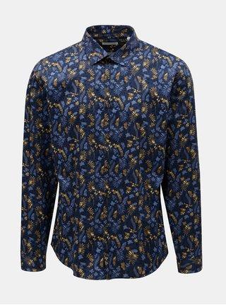 Tmavomodrá kvetovaná košeľa Lindbergh