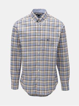 Hnedo–modrá vzorovaná košeľa Fynch-Hatton