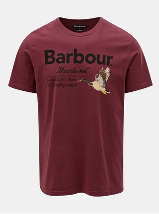 Tricou barbatesc mov cu imprimeu Barbour Country