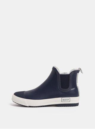 Tmavomodré dámske gumové chelsea topánky GANT Mandy