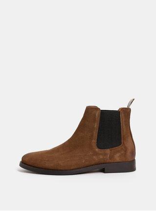 Hnědé pánské semišové chelsea boty GANT Max