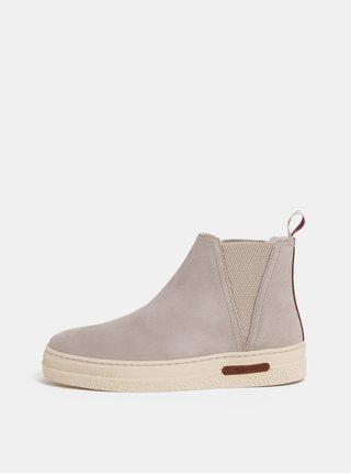Svetlosivé dámske semišové zimné topánky s vlnenou podšívkou GANT Maria
