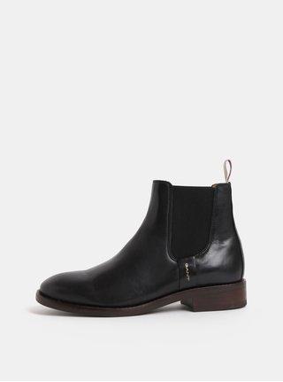 Černé dámské kožené chelsea boty GANT Fay