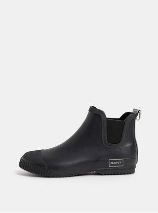 Černé dámské gumové chelsea boty GANT Mandy