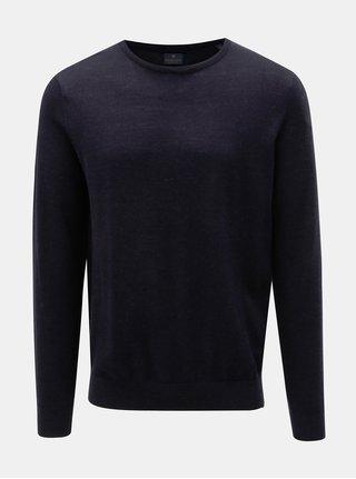 Modrý tenký sveter z merino vlny Dstrezzed