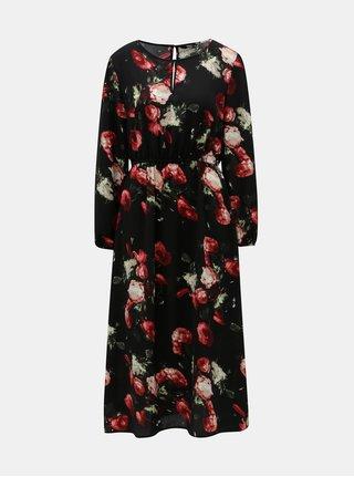 Rochie neagra florala cu decupaje ONLY Elenor