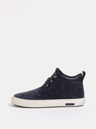 Modré pánské semišové kotníkové boty GANT Marvel