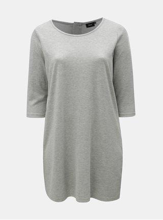 Světle šedé žíhané mikinové šaty Zizzi Heaven