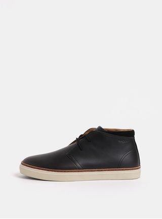Černé pánské kožené kotníkové boty GANT Bari