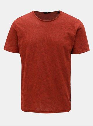 Červené žíhané tričko ONLY & SONS