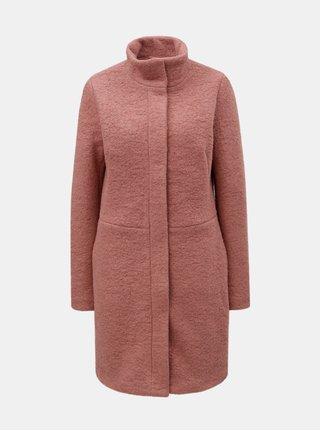 Ružový vlnený kabát VILA Lanis