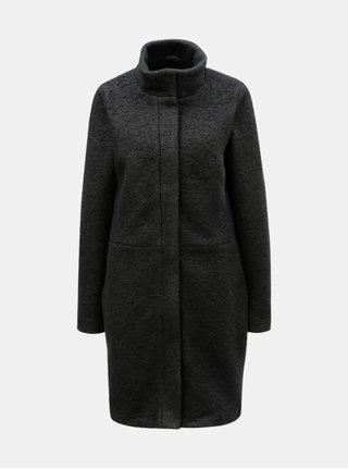 Čierny vlnený kabát VILA Lanis