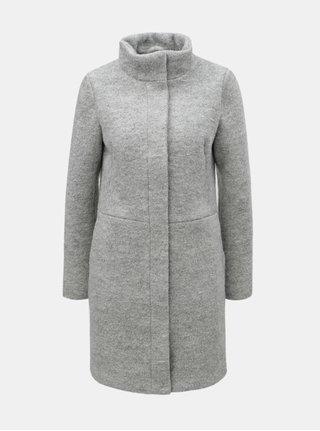 Svetlosivý vlnený kabát VILA Lanis