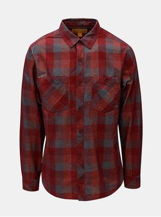 Červená pánská kostkovaná manšestrová košile BUSHMAN Zap