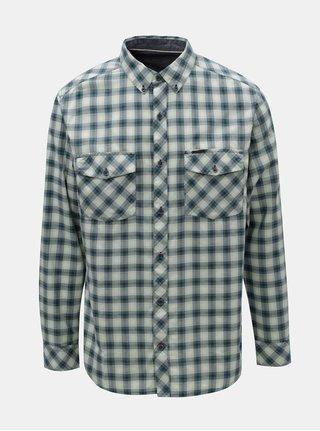 Modro-zelená pánská kostkovaná košile BUSHMAN Gresham