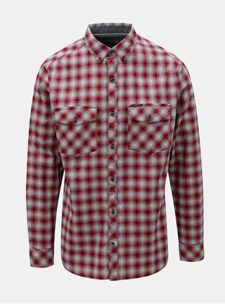 Modro-červená pánská kostkovaná košile BUSHMAN Gresham