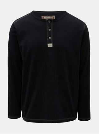 Pánské černé tričko s potiskem na zadní části BUSHMAN Kramer