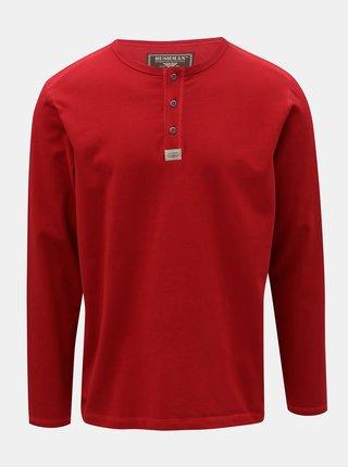 Pánské červené tričko s potiskem na zadní části BUSHMAN Kramer