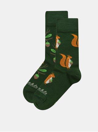 Zelené unisex ponožky Fusakle Veve
