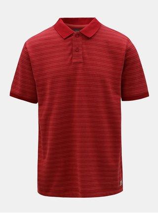Červené pánské pruhované polo tričko BUSHMAN Roseglen