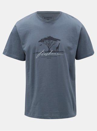 Modré pánske tričko s potlačou BUSHMAN Parshall