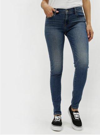 Modré dámské super skinny džíny s vyšisovaným efektem 710 Levi s® Rain Check aa8164f081