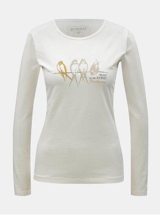 Krémové dámske tričko s potlačou BUSHMAN Lahaina
