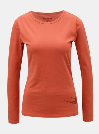 Oranžové dámske tričko s potlačou BUSHMAN Lahaina