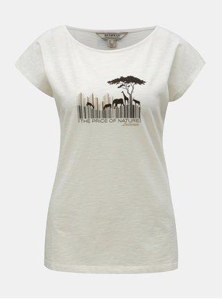 Krémové dámske tričko s potlačou BUSHMAN Fredonia
