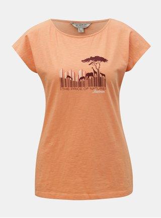 Oranžové dámske tričko s potlačou BUSHMAN Fredonia