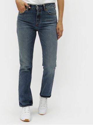 Modré dámské straight džíny s vyšisovaným efektem Kings of Indigo Kimberley