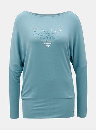 Tricou de dama albastru cu maneci liliac BUSHMAN Pensacola