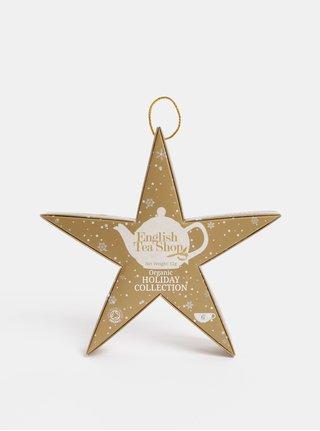 Vánoční čajová kolekce ve zlaté barvě English Tea Shop Hvězda