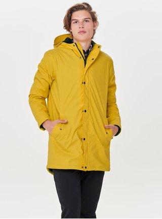 Žlutá nepromokavá bunda s kapucí ONLY & SONS