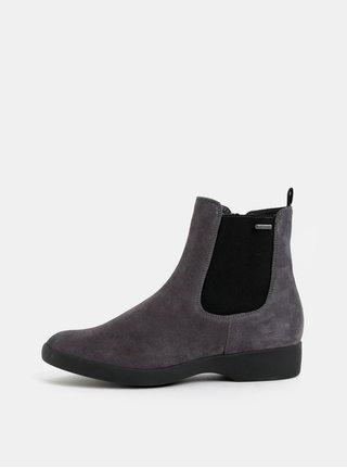 Šedé semišové chelsea boty Högl