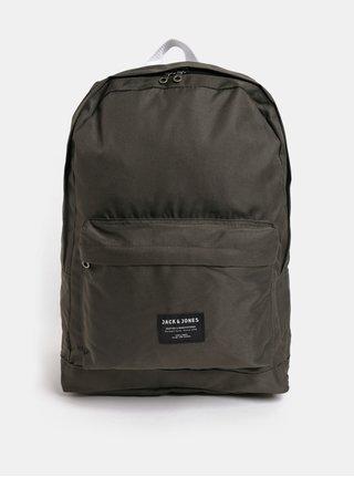 Kaki batoh s predným vreckom Jack & Jones Basic