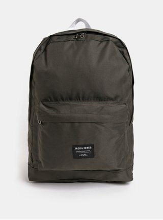 Khaki batoh s přední kapsou Jack & Jones Basic