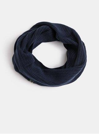 Tmavě modrá pletená dutá šála Jack & Jones Tube