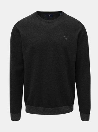 Tmavě šedý pánský svetr s příměsí vlny GANT Elbow