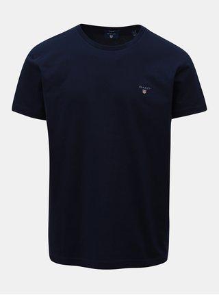 Tmavomodré pánske regular tričko GANT Pigue