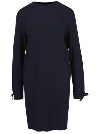 Rochie-pulover bleumarin cu cordon la maneci VERO MODA Pocha