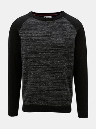Čierny melírovaný sveter Jack & Jones Montana
