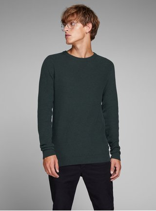 Pulover verde inchis melanj Jack & Jones Maine