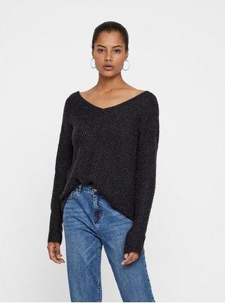 4f9292b0157 Černý svetr s krajkou na zádech VERO MODA Buena