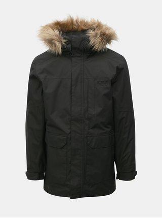 Čierna pánska zimná regular fit bunda s umelou kožušinkou HELLY HANSEN